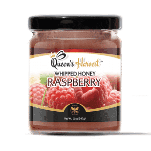 Gourmet Kosher Raspberry Whipped Honey is great on meats, chicken, bagels, waffles or with Queen's Harvest Amazing Gourmet Honey Butters.