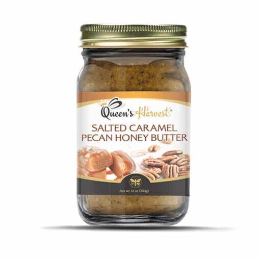 Salted Caramel Pecan Honey Butter 576x576