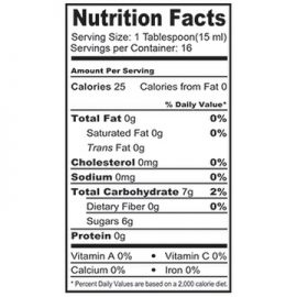 Shrub Nutrition Facts