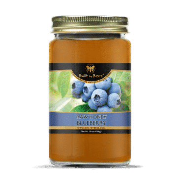 Raw Blueberry Blossom Honey 16 oz