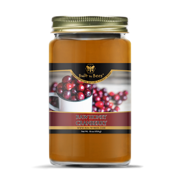 Raw Cranberry Blossom Honey 16 oz