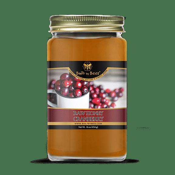 Raw Cranberry Blossom Honey 16 oz