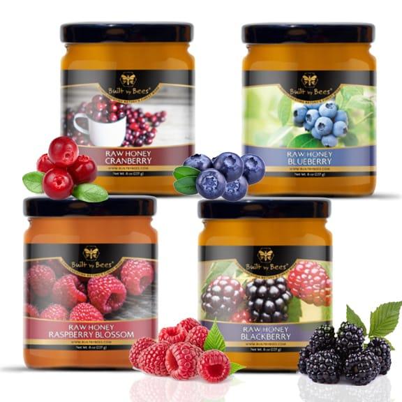 Raw Berry Honey Bundle 8 oz