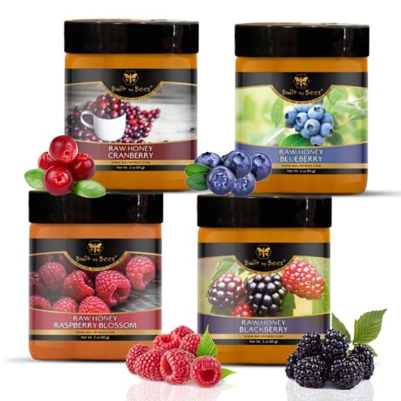 Raw Berry Honey Bundle 3 oz