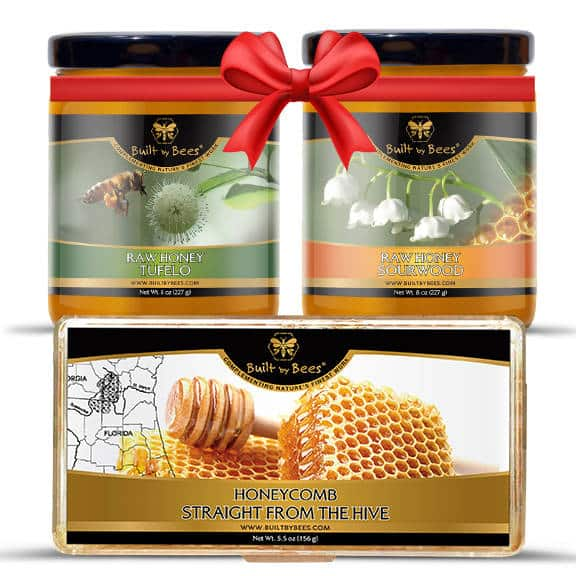 Sourwood and Tupelo Honey Bundles with Comb