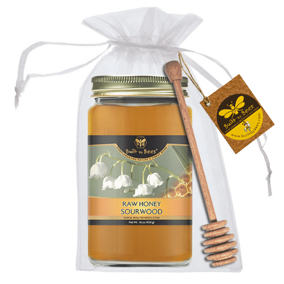 Premium American Honeys with Dipper - Sourwood