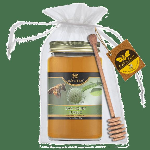 Premium American Honeys with Dipper - Tupelo